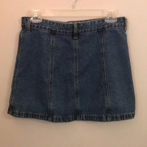 Forever 21 Skirts - Forever 21 jean skirt, front button up